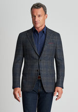 Grey Frissé Plaid Jacket