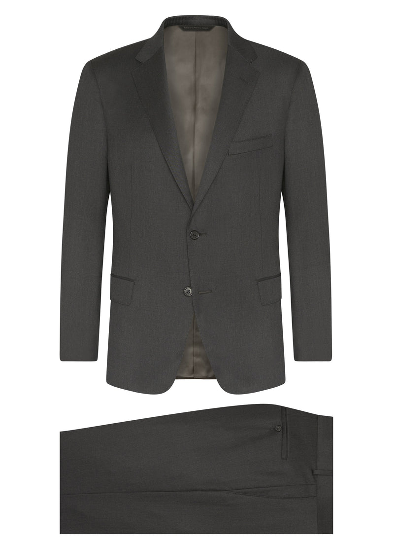Canadian made Grey Super 120s Wool Suit from Samuelsohn