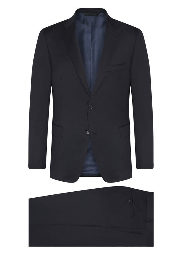 Canadian made Navy Super 120s Wool Suit from Samuelsohn