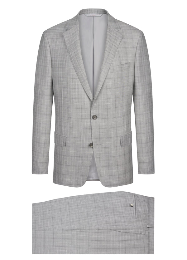 Canadian made Light Grey Glencheck Suit from Samuelsohn