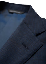 Blue Sharkskin Modern Suit