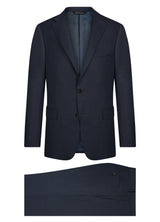 Canadian made Blue Sharkskin Modern Suit from Samuelsohn
