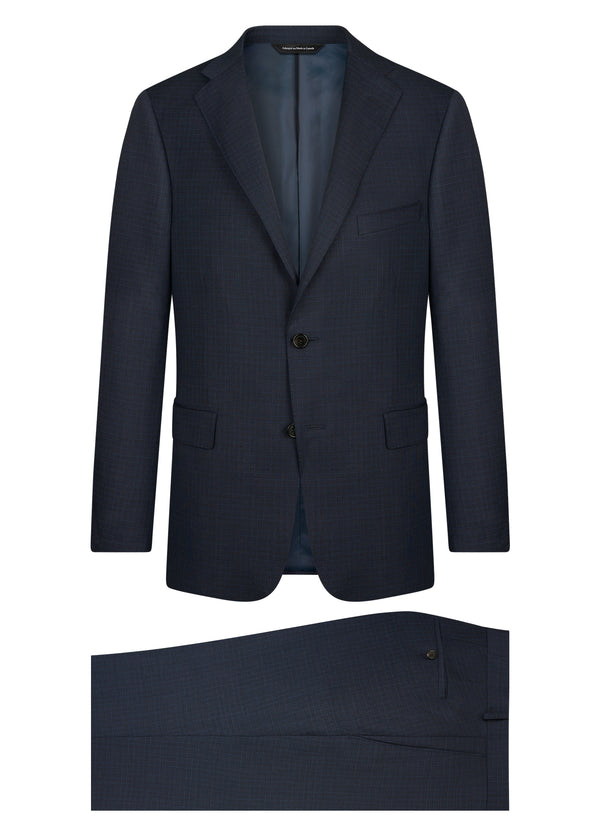 Canadian made Blue Sharkskin Suit from Samuelsohn