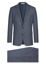 Canadian made Blue Tweed Windowpane Suit from Samuelsohn