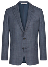 Blue Tweed Windowpane Suit