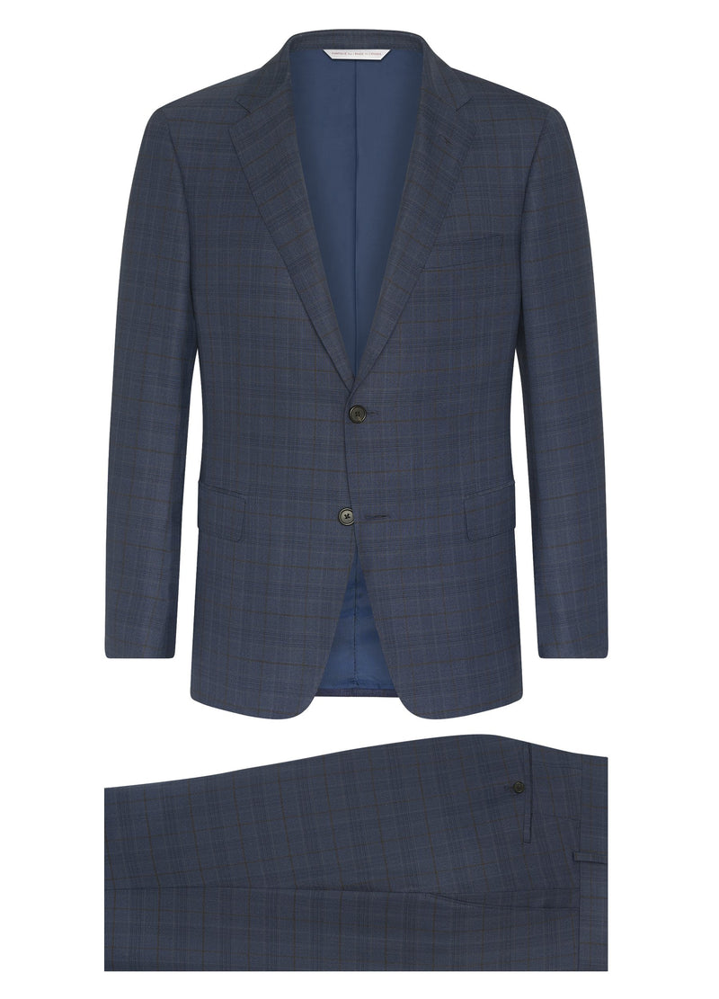 Canadian made Blue Windowpane Super 150s Suit from Samuelsohn