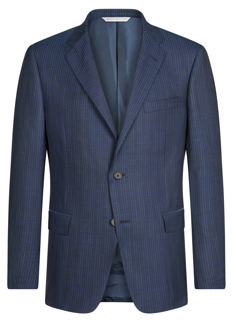 Blue Mini Stripe Suit