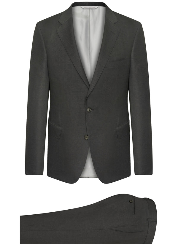 Canadian made Grey Ice Wool Classic Suit from Samuelsohn