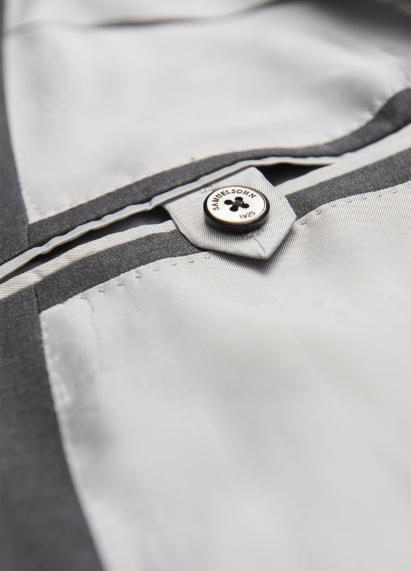 Grey Ice Wool Suit - Classic Fit