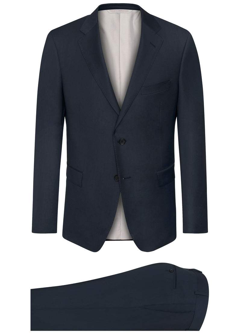 Canadian made Navy Ice Wool Suit from Samuelsohn