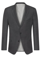 Charcoal Ice Wool Sharkskin Suit