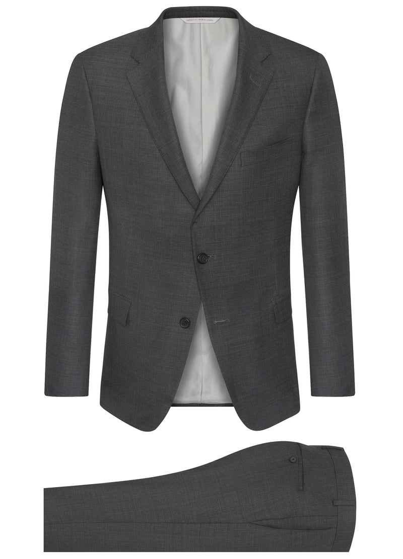 Canadian made Charcoal Ice Wool Sharkskin Suit from Samuelsohn