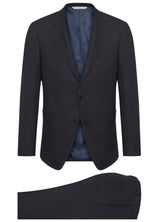 Blue Ice Wool Sharkskin Suit