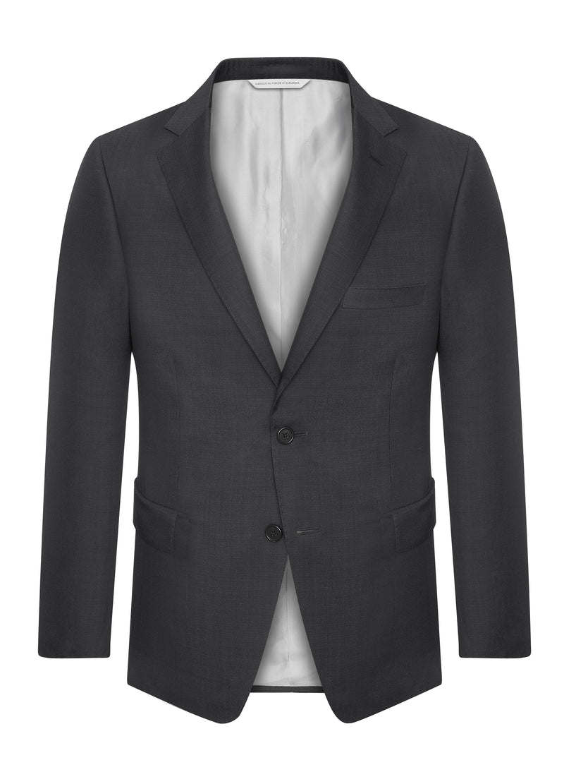 Canadian made Charcoal Black Modern Suit from Samuelsohn