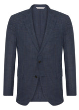 Dark Blue Glencheck Summertime Suit