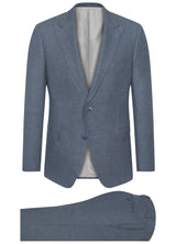 Canadian made Slate Blue Flannel Suit from Samuelsohn