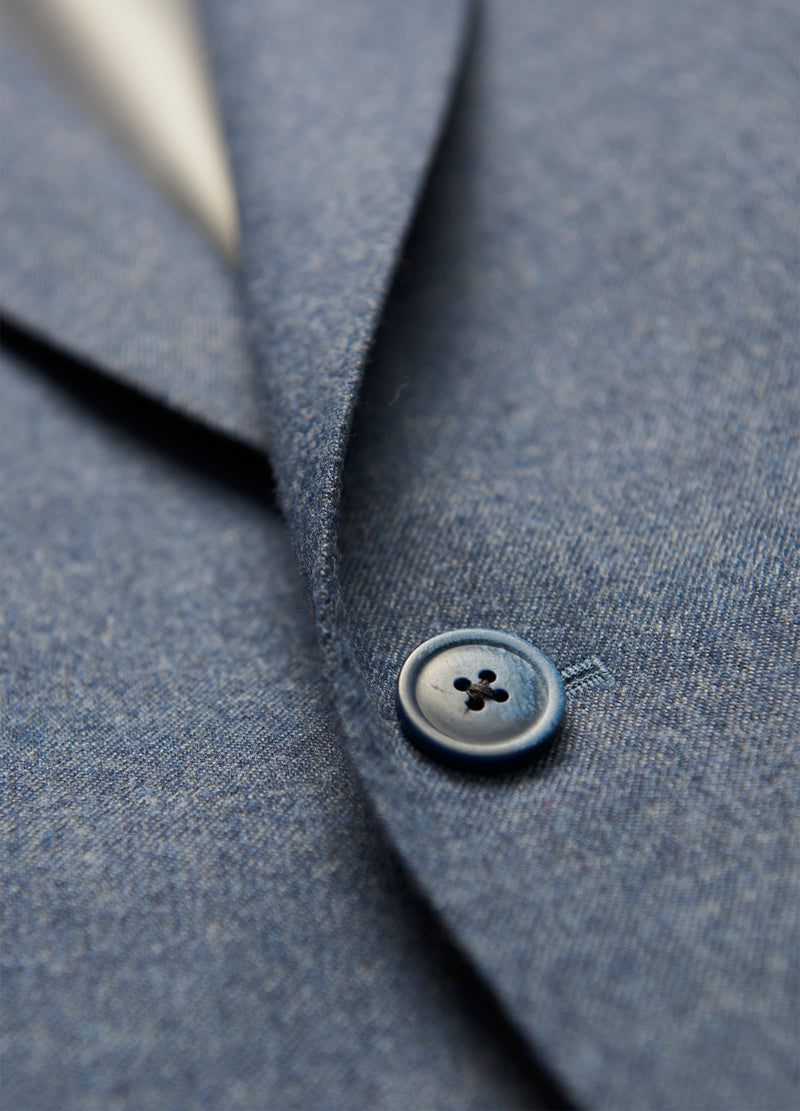 Slate Blue Flannel Suit