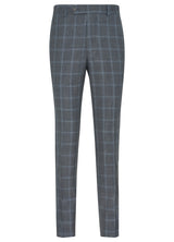 Grey with Blue Windowpane Suit