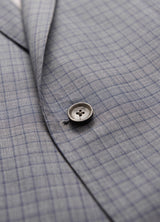 Grey Minicheck Ice Wool Silk Suit