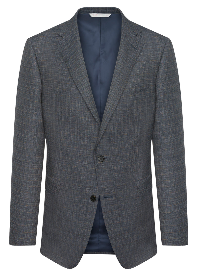 Blue Grey Check Suit