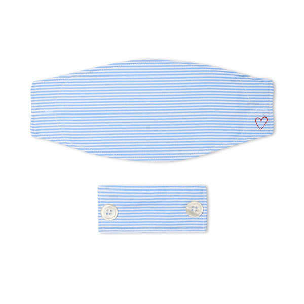 Sky Blue Pencil Stripe Mask