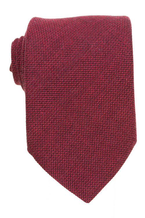 Red Cotton Wool Cashmere Tie