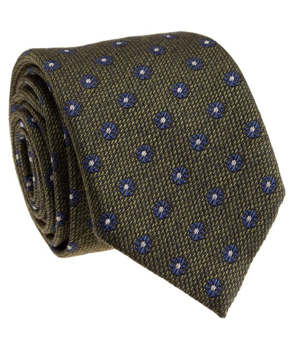 Green Blue Silk Neck Tie