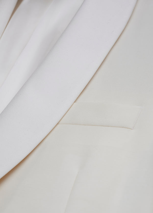 White Shawl Collar 120s Dinner Jacket