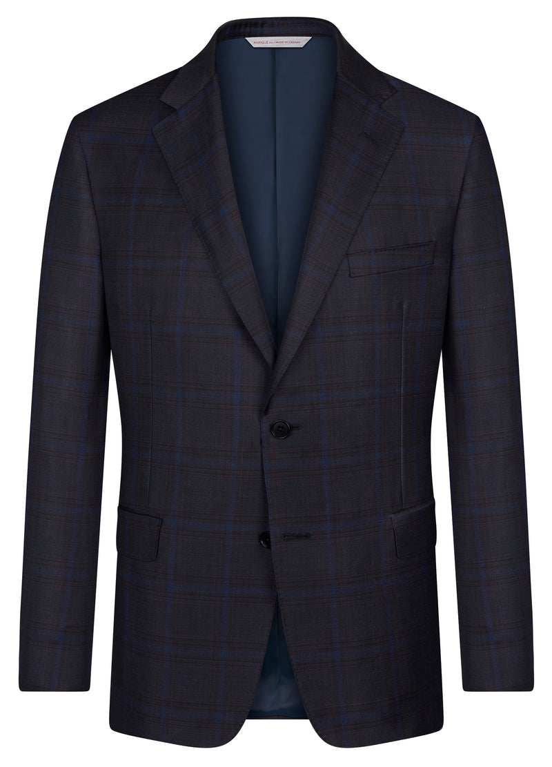 Canadian made Navy Plaid Jacket from Samuelsohn