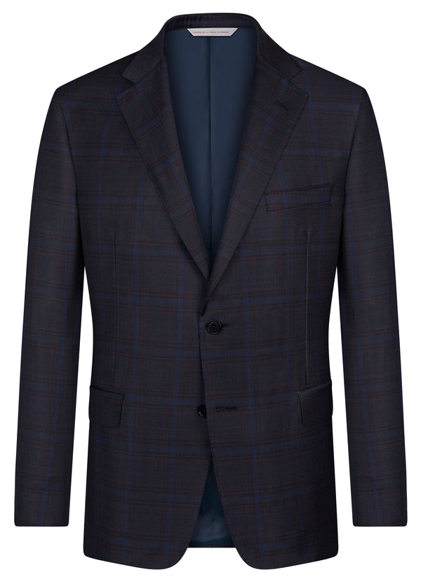 Canadian made Navy Plaid Classic Jacket from Samuelsohn