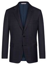Canadian made Navy Plaid Soft Jacket from Samuelsohn