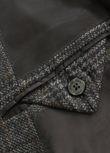 Grey Windowpane Wool Jacket
