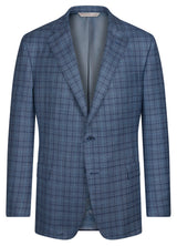 Canadian made Blue Check Classic Jacket from Samuelsohn