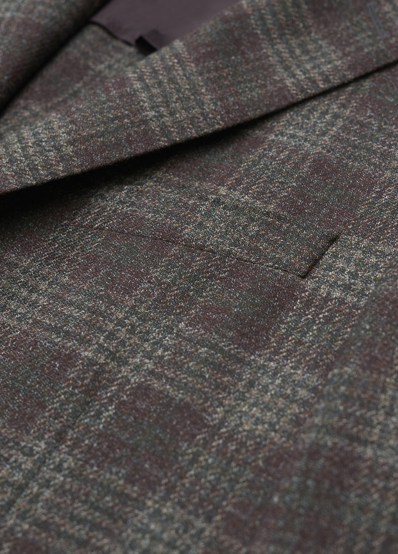 Burgundy Plaid Soft Oxygen Jacket