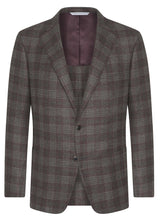 Canadian made Burgundy Plaid Soft Oxygen Jacket from Samuelsohn
