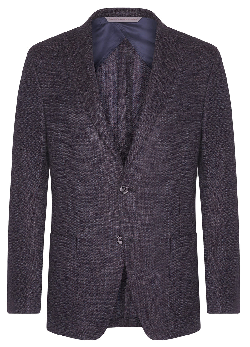 Canadian made Navy Porto Oxygen Silk Supersoft Jacket from Samuelsohn