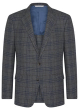 Canadian made Grey Frisé Plaid Jacket from Samuelsohn