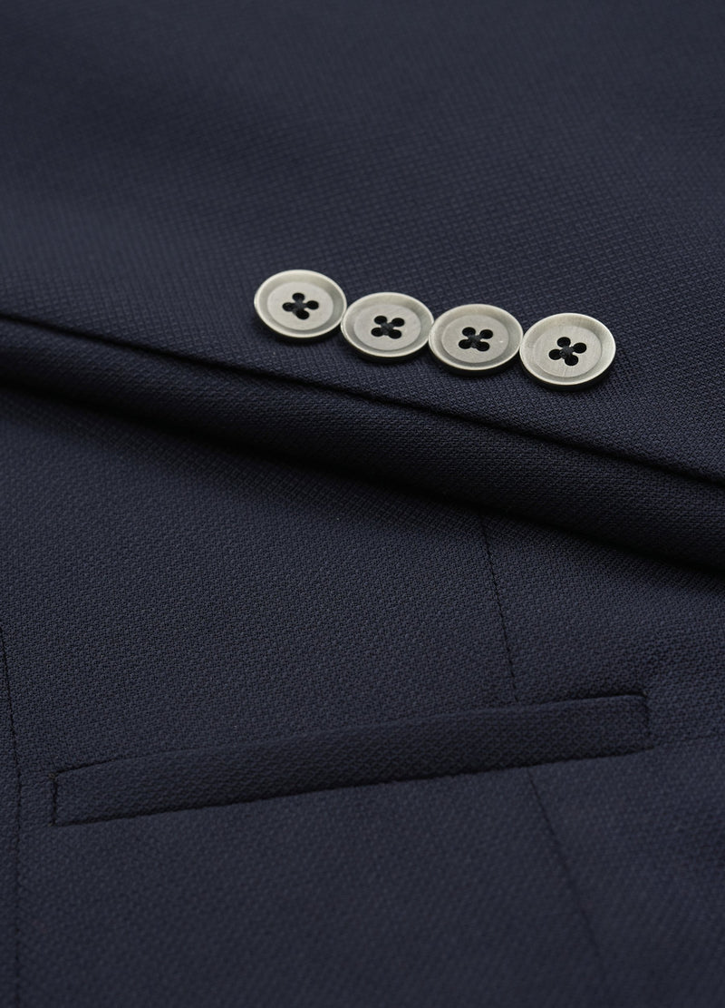 Solid Navy Super 130s Wool Jacket