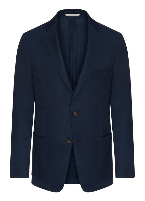 Canadian made Bright Blue Travel Blazer from Samuelsohn