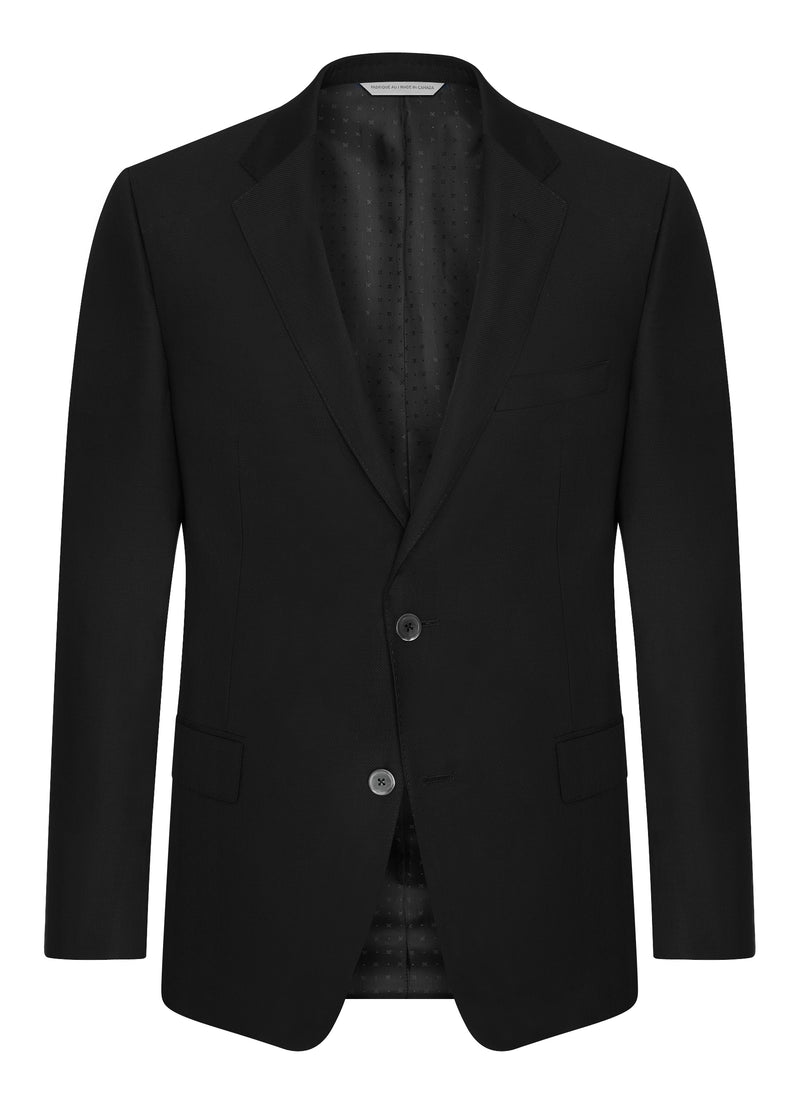 Canadian made Black Double Twist Blazer from Samuelsohn