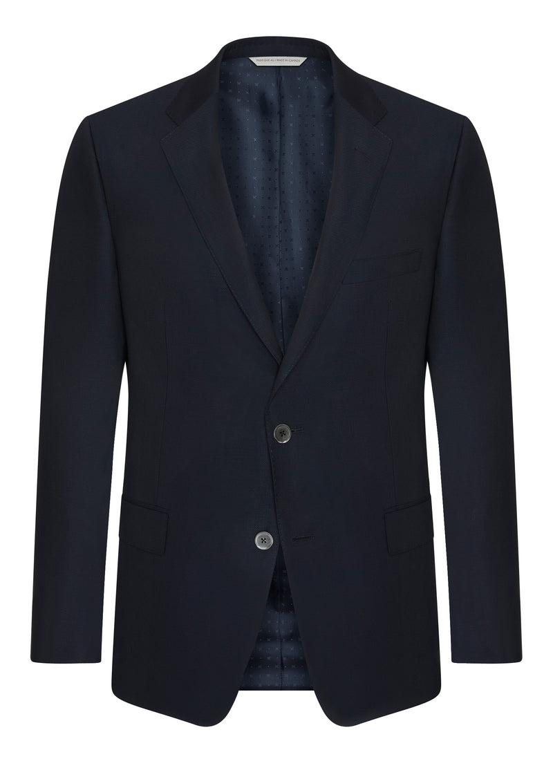 Canadian made Blue Double Twist Blazer from Samuelsohn
