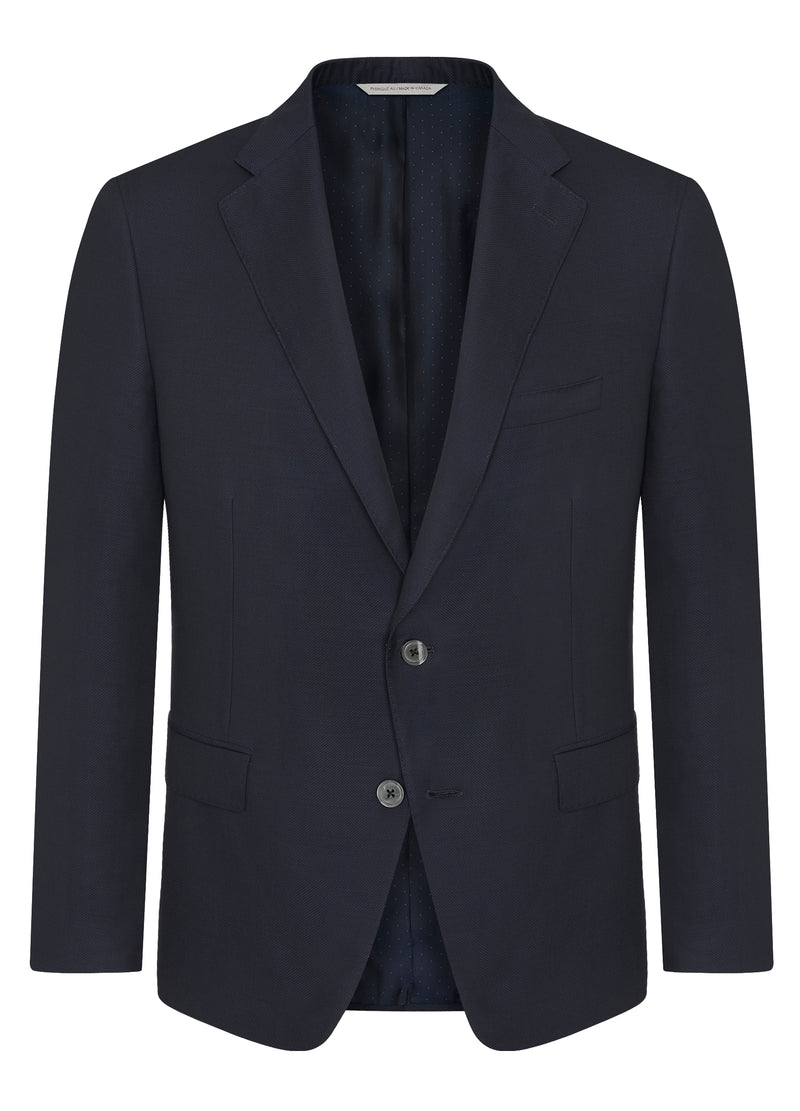 Canadian made Blue Double Twist Classic Blazer from Samuelsohn