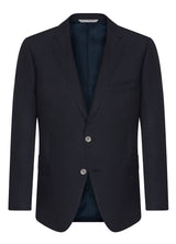 Canadian made Navy Ice Wool Blazer  from Samuelsohn