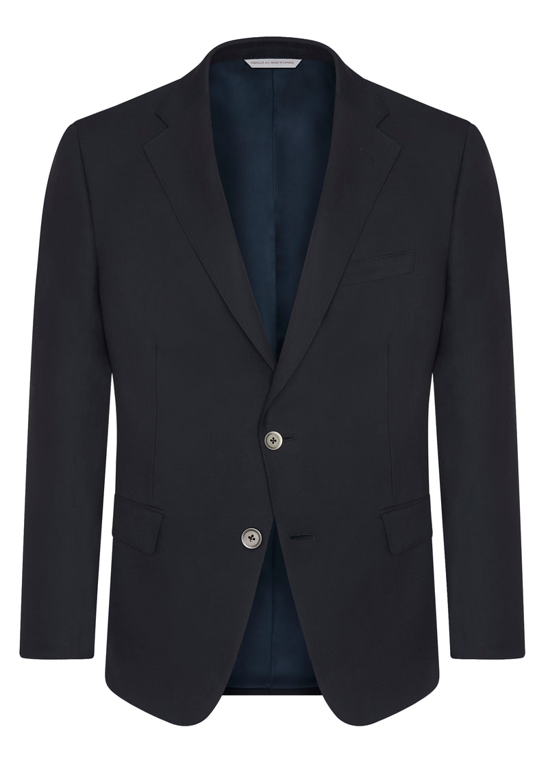 Canadian made Navy Ice Wool Classic Blazer from Samuelsohn
