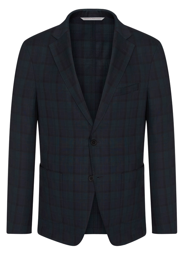 Canadian made Blackwatch Poplin Jacket from Samuelsohn