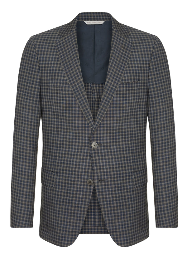 Canadian made Grey Minicheck Jacket from Samuelsohn