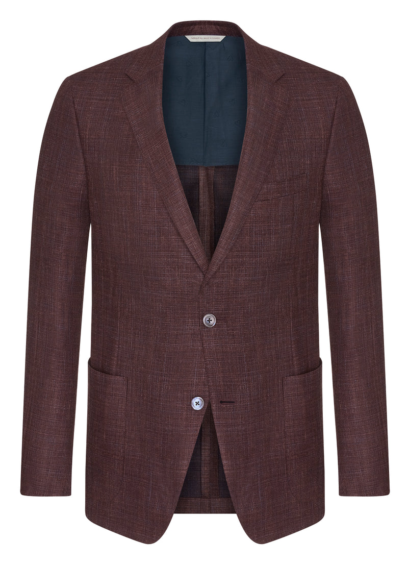 Canadian made Burgundy Summertime Jacket from Samuelsohn