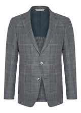 Canadian made Light Blue Plaid Summer Time Jacket from Samuelsohn