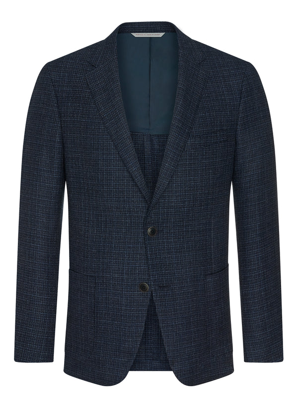 Canadian made Blue Mesh Oxygen Jacket from Samuelsohn