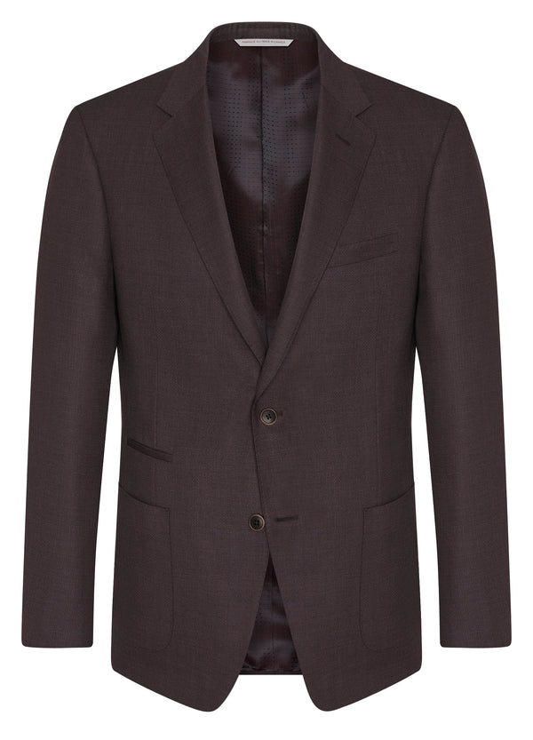 Canadian made Bordeaux Travel Blazer from Samuelsohn